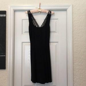 Gorgeous black evening knee length dress